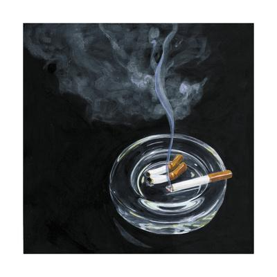 Tobacco ashtray and smoke,2014