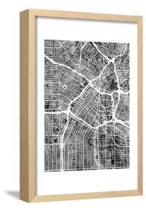 Los Angeles City Street Map by Tompsett Michael