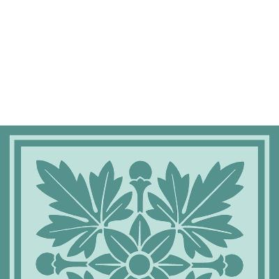 Tonal Woodblock in Blue I-Vision Studio-Art Print