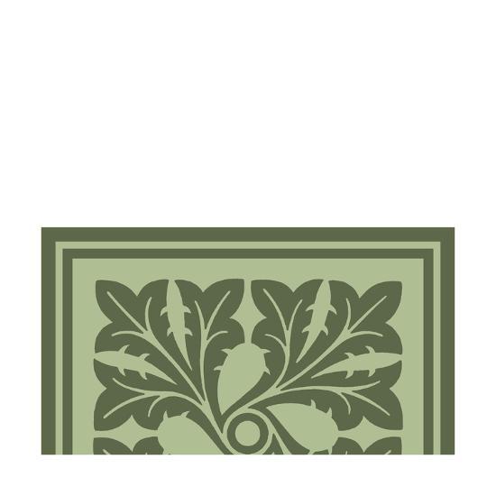 Tonal Woodblock in Green III-Vision Studio-Art Print