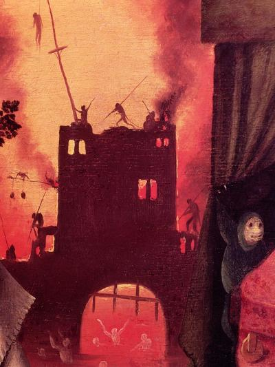 Tondal's Vision, Detail of the Burning Gateway-Hieronymus Bosch-Giclee Print