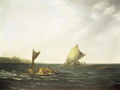 Tonga Canoes-John Webber-Giclee Print