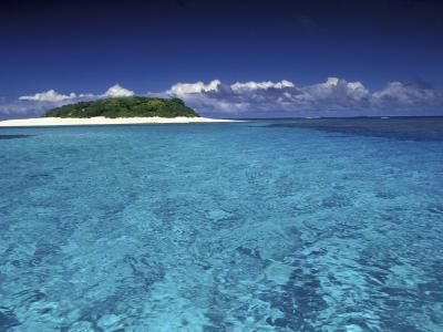 Tonga Islet with White Sand and Ocean-Art Wolfe-Photographic Print