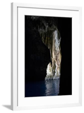 Tonga, Vava'U Islands, Swallows Cave. Select Focus of Cave Wall-Aliscia Young-Framed Photographic Print