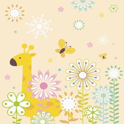 Flowers and Giraffe