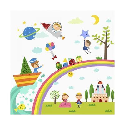 Happy Children Enjoying their Time
