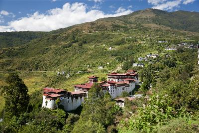 Tongsa Dzong, Buddhist Monastery and Fortress, in Tongsa, Bhutan-Peter Adams-Photographic Print