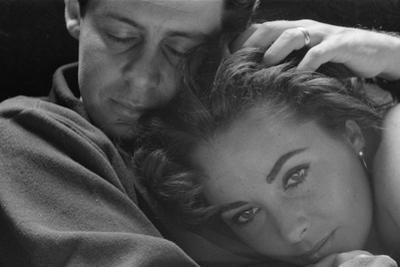 Elizabeth Taylor with husband Eddie Fisher, c.1960