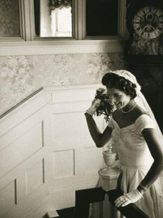 Jackie Kennedy Throwing the Bouquet