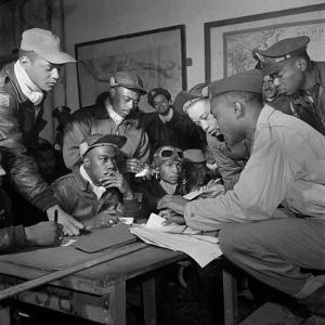 Tuskegee Airmen, 1945 by Toni Frissell