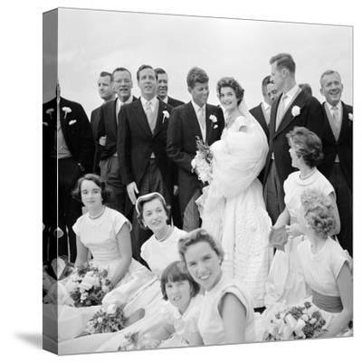 Wedding of Jackie Bouvier and Senator John F. Kennedy at Newport, Rhode Island, 1953