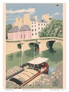 Paris - Le Pont Neuf (New Bridge Seine River) - TAI Airline by Toni Mella