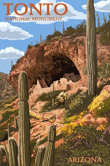 Tonto National Monument, Arizona-Lantern Press-Art Print
