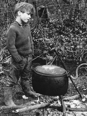 Gypsy boy with cauldron, 1960s