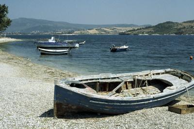 Harbour, Ligia, Levkas, Greece