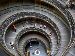 Staircase at Vatican Museum by Tony Burns