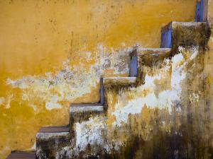 Steps with Peeling Yellow Paint by Tony Burns