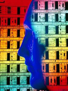Abstract Comp. of Human Head & Computer Board by Tony Craddock