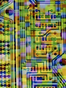 Abstract Image of a Circuit Board. by Tony Craddock
