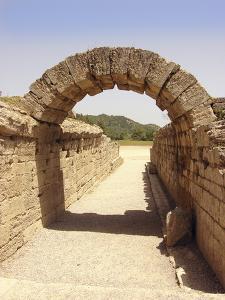 Ancient Olympia Stadium Entrance by Tony Craddock