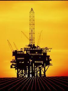Oil Exploration Platform by Tony Craddock