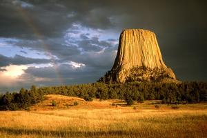 View of Devil's Tower, a Basalt Outcrop by Tony Craddock