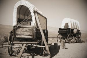 Wild West Covered Wagons by Tony Craddock