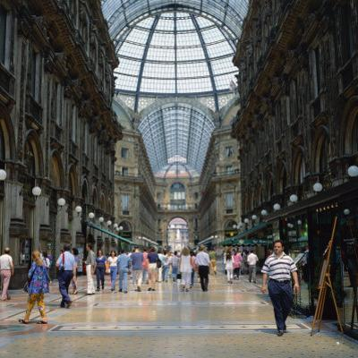 Galleria Vittoria Emanuele, the World's Oldest Shopping Mall, in the City of Milan, Lombardy, Italy