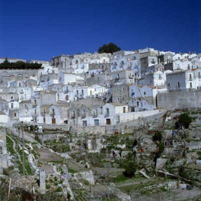 Houses of the Village of Monte Sant Angelo in Puglia, Italy, Europe