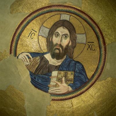 Mosaic of the Almighty, Pantocrator, in the Monastery of Daphni, Greece, Europe