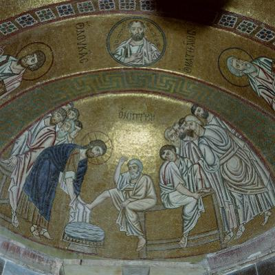 Mosaic Showing Jesus Christ Washing the Feet of Peter, in the Monastery of Hosios Lucas, Greece