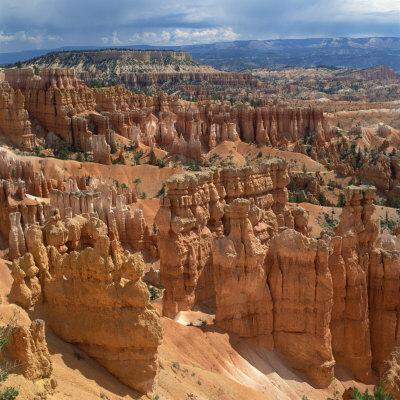 Pinnacles Viewed from Inspiration Point, in the Bryce Canyon National Park, Utah, USA