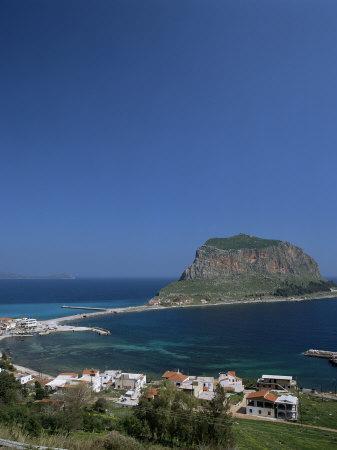 Rock Known as the Gibraltar of Greece, Monemvasia, Greece