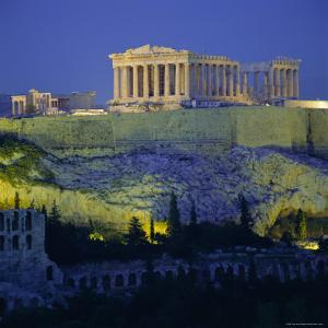 The Parthenon and Acropolis, Unesco World Heritage Site, Athens, Greece, Europe by Tony Gervis