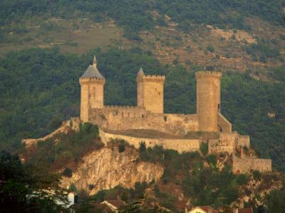 Towers and Fortifications of the Chateau De Foix, in the Midi Pyrenees, France, Europe
