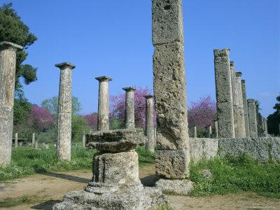 View Towards the Palaestra, Archaeological Site, Olympia, Unesco World Heritage Site, Greece