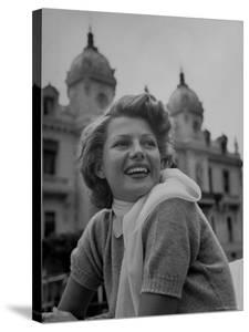 Actress Rita Hayworth Outside Casino by Tony Linck