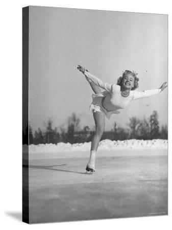 Gretchen Merrill Ice Skating During the World Championship