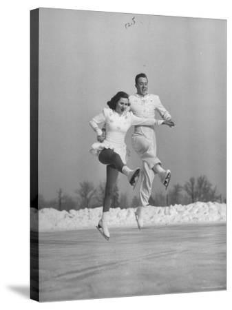 Michael Kennedy and Wife Karol, Dancing on Ice Skates at the World Figure Skating Championship