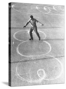 Richard Button Skating at the World Figure Skating Contest by Tony Linck