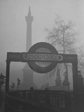View of the Fog Drenched Streets of London