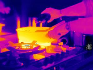 Cooking on a Gas Stove, Thermogram by Tony McConnell