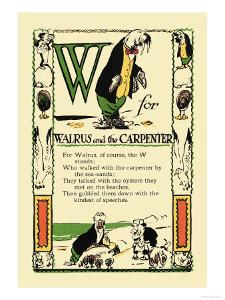 W for Walrus and the Carpenter by Tony Sarge