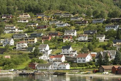 Aurlandsvangen, Aurlandsfjord, Sognefjord, Norway, Scandinavia, Europe
