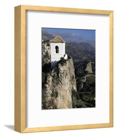 Bell Tower in Village on Steep Limestone Crag, Guadalest, Costa Blanca, Valencia Region, Spain