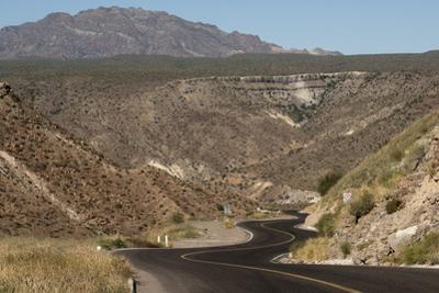 Desert road near Santa Rosalia, Baja California, Mexico, North America