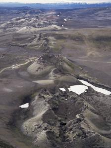 Fissure Vent with Spatter Cones, Laki Volcano, Iceland, Polar Regions by Tony Waltham