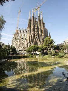 Gaudi's Cathedral of La Sagrada Familia, still under construction, UNESCO World Heritage Site, Barc by Tony Waltham