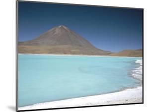 Laguna Verde with Mineral Flat Margin and Volcan Licancabur, 5960M, Southwest Highlands, Bolivia by Tony Waltham