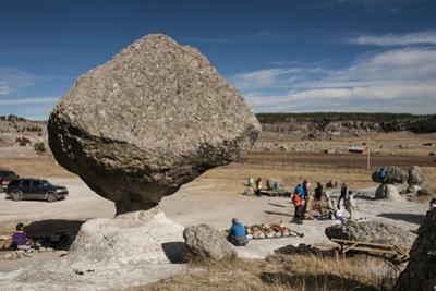 Valle de los Hongos (Mushroom Rocks) formed of volcanic ash, Creel, Chihuahua, Mexico, North Americ